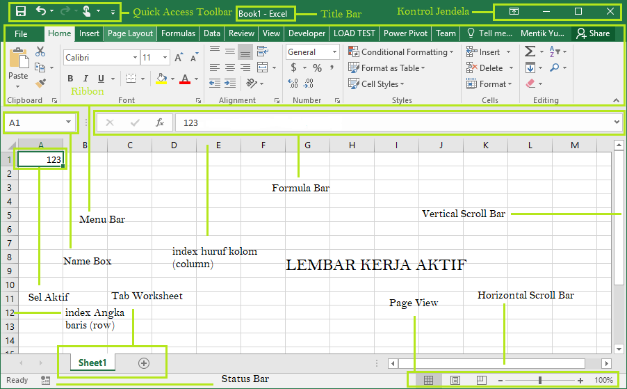 Fungsi Workbook Microsoft Excel