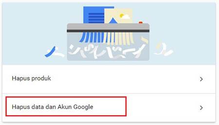 Menghapus Akun Google 1