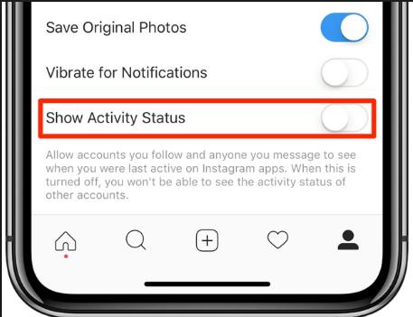 Menyembunyikan Status Online di Instagram