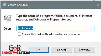 cara untuk menampilkan shortcut Explorer windows yang menghilang