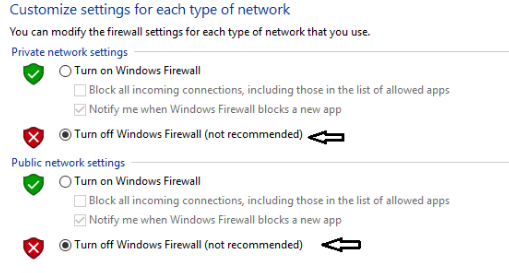 private network settings dan jugapublic network settings