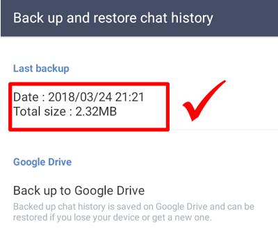 Cara Backup Chat Line ke Google Drive Dengan Mudah