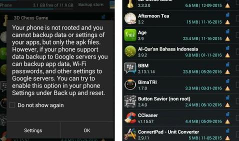 Cara Backup Data Android Dengan Aplikasi Easy Backup & Restore