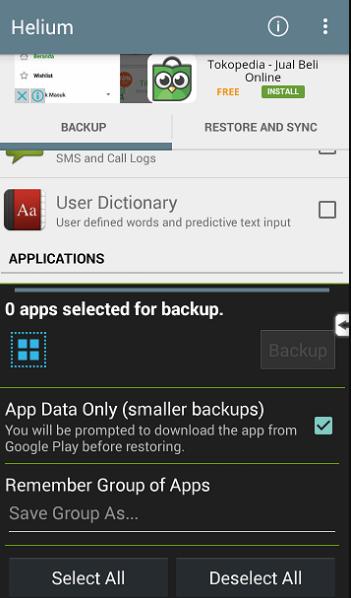 Cara Backup Data Android dengan Aplikasi Helium