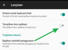 Cara Menampilkan Ikon Aplikasi Google Keyboard yang Hilang