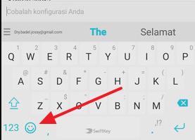 Cara menambahkan tombol emoji di Swiftkey Keyboard