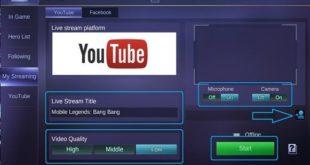 Cara Live Streaming Mobile Legends di YouTube Tanpa Aplikasi Tambahan
