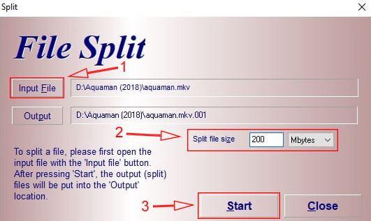 Cara Memecah atau Membagi File Besar Menjadi Beberapa File Dengan Menggunakan HJ-Split