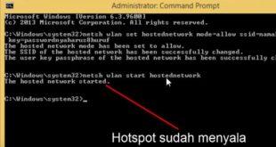 Cara Membuat Hotspot WiFi di Laptop Dengan CMD