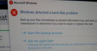 Cara Memperbaiki Windows Detected a Hard Disk Problem