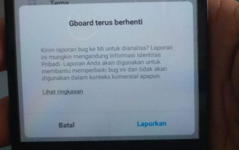 Cara Mengatasi GBoard Error di HP Xiaomi Setelah Update