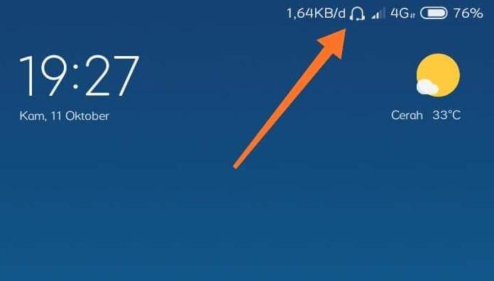 Cara Menghilangkan Ikon Mode Headset di HP Xiaomi