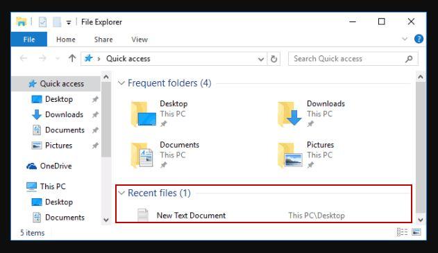 Cara Menampilkan Recent Documents Windows 10