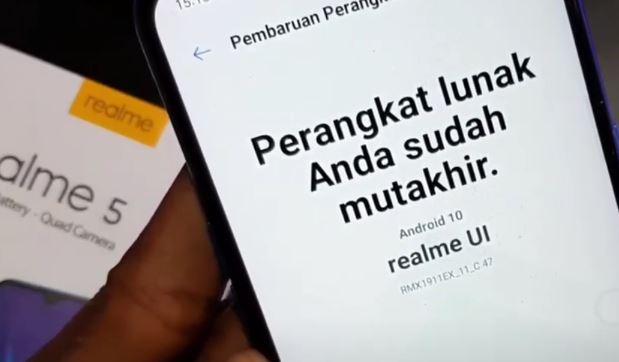 Cara Downgrade (Rollback) Realme 5/5i/5s Kembali ke Stock ROM Android Pie 9