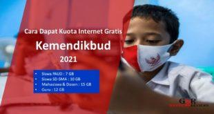 Cara Daftar dan Syarat Mendapat Bantuan Kuota Internet Gratis Kemendikbud 2021
