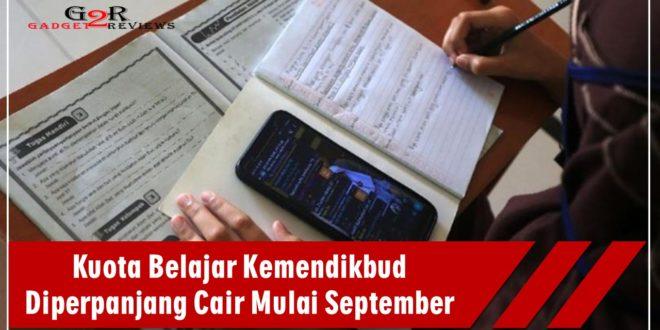 Kuota Belajar Kemendikbud Diperpanjang Cair Mulai September