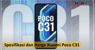 Spesifikasi dan Harga Xiaomi Poco C31